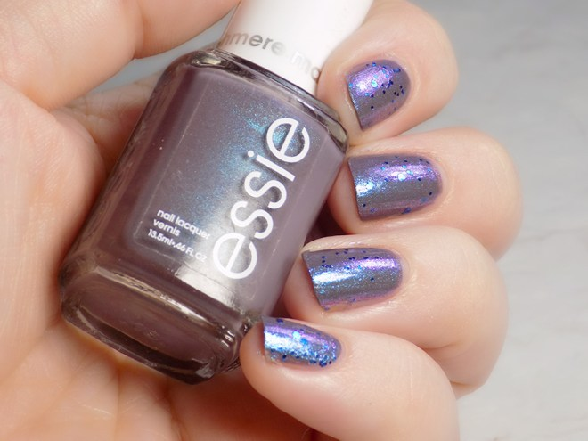 Ciate Risky Business over Essie Coat Couture Swatch and Review