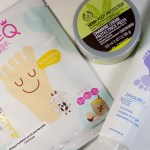 Wainter Footcare Routine - FaceQ Milk Foot Mask - Avon Footworks Clay Mask - BodyShop Hemp Foot Protector