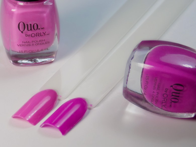 Quo by Orly Perfectly Painted Nail Polish Collection - Pinks Swatches Bottles