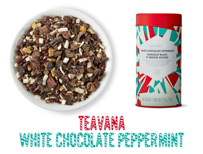 Teavana White Chocolate Peppermint Rooibos Tea 2016 Holiday Season