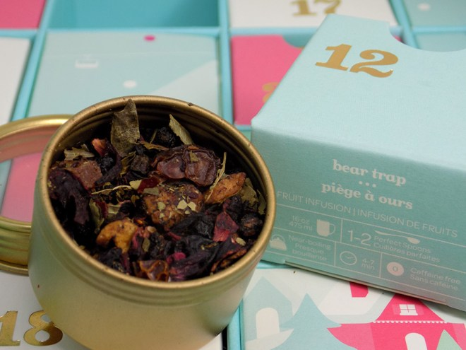 DavidsTea 2016 Advent Calendar Day 12 - Bear Trap