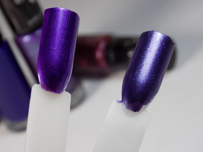 Hard Candy Jingle Nails - Blurples Swatches - Purples