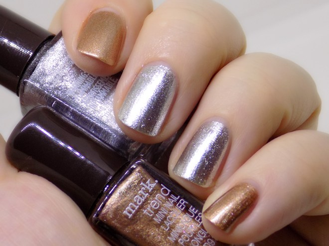 Mark by Avon Totally Nailed It Silver Swoon and Foiled Again Swatches