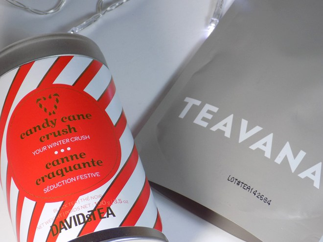 davidstea candy cane crush comparison with Teavana White Chocolate Peppermint