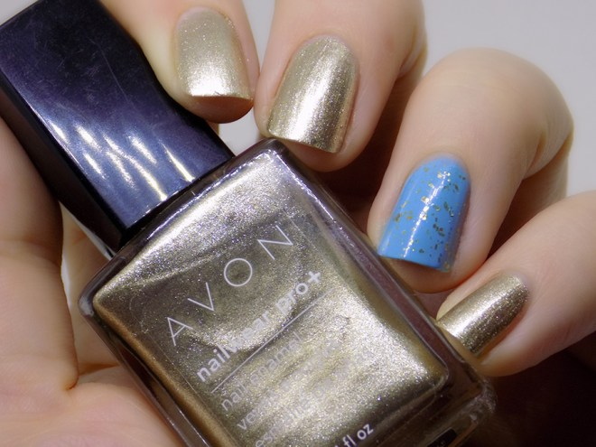 DavidsTea The Glow - Resolution Sleep - Avon Gold Dust, Mountain Calling Today is Fun Day, Joy and Polish Goldschlacquer