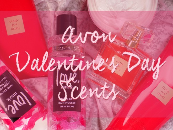 Avon Valentine's Day Scents Love, Mark and Little Red Dress