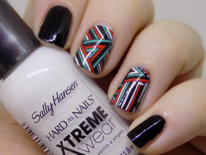 BPY03 Decals - Turquoise Green - Red - Black Geometric Water Decals Swatch