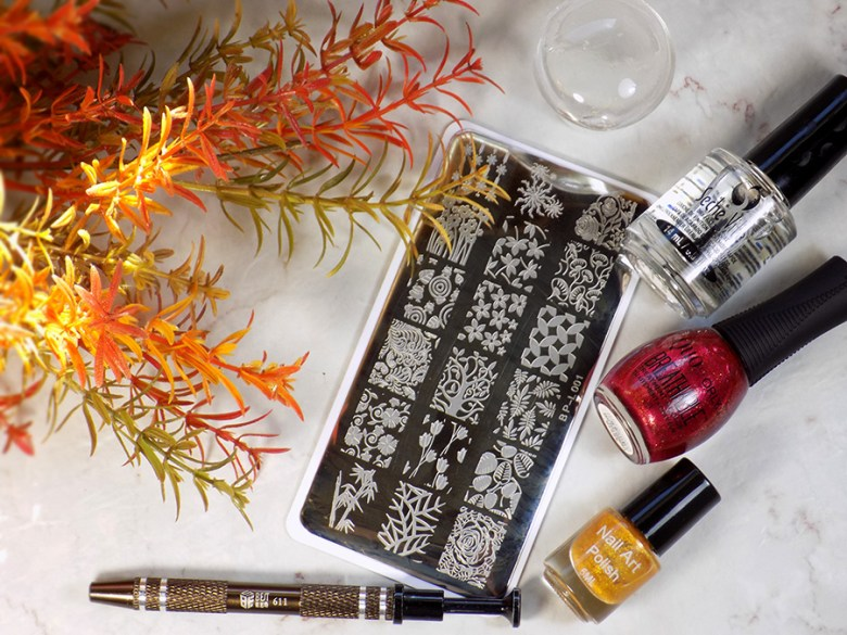 Born Pretty BP-L001 Stamping Plate - Quo Stronger Than Ever - BP Gold 5ml - BP Cotton Claw