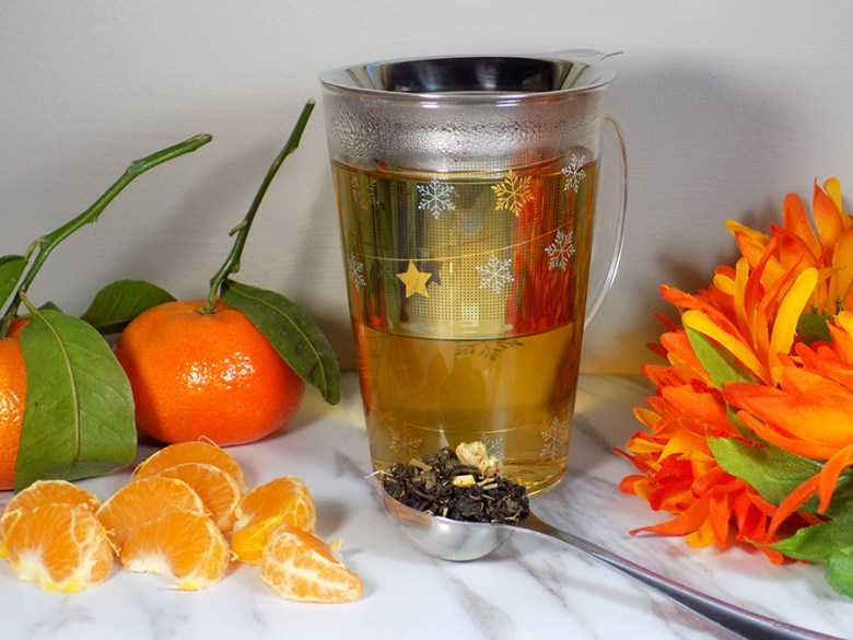 Bulk Barn Oolong Orange Tea Review - Brewed Loose Tea Colour