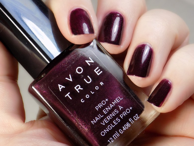 Avon True Color Spring 2017 Nail Polish Night Violet Swatches