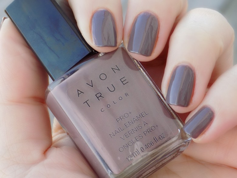 Avon True Color Spring 2017 Nail Polish in Smoky Plum Swatch Natural Light