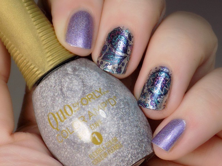 Born Pretty Store BP W19 Turquoise and Purple Water Decals with Quo Best Dressed and Paparazzi