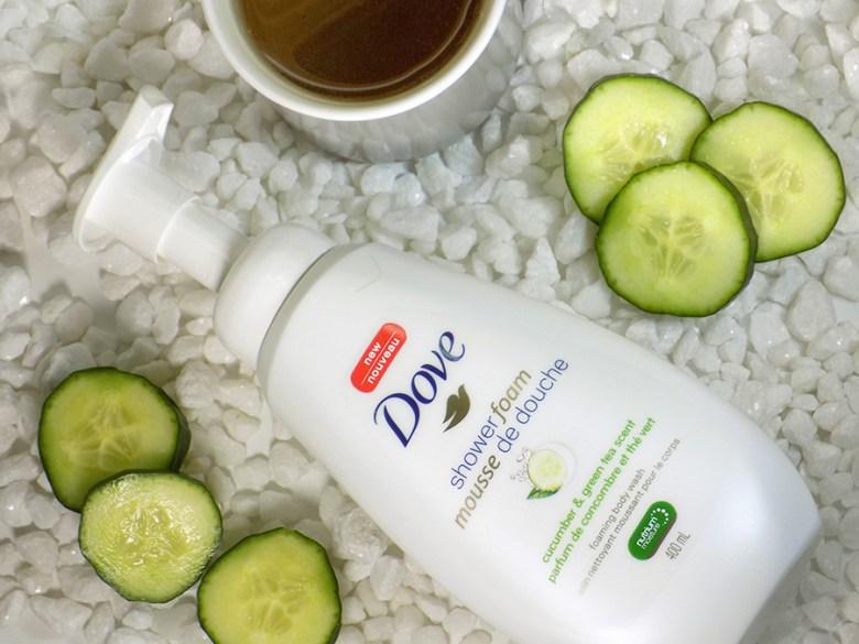 Dove Shower Foam Review - Green Tea & Cucumber Review