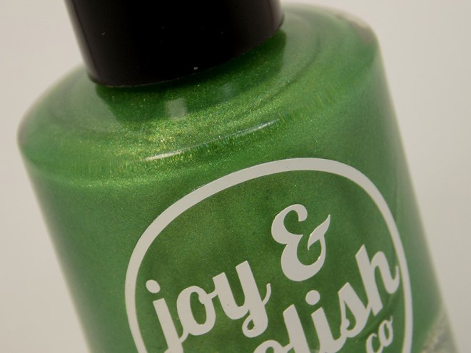 Joy and Polish Get In Lime - Bottle Macro Shot