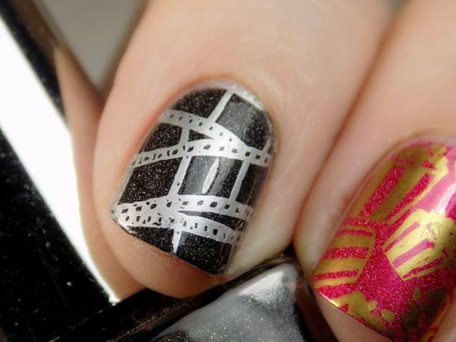 Movie Night Nails - Harunouta L043 Born Pretty - Swatches - Closeup Movie Reel