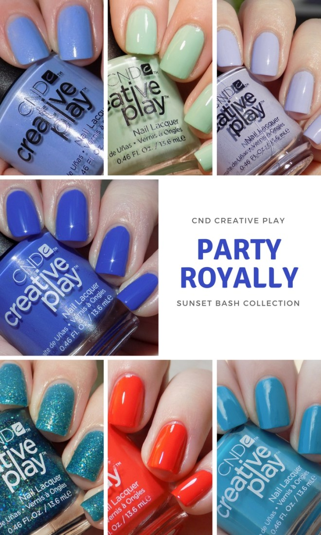 CND Creative Play Swatches - Party Royally Swatches
