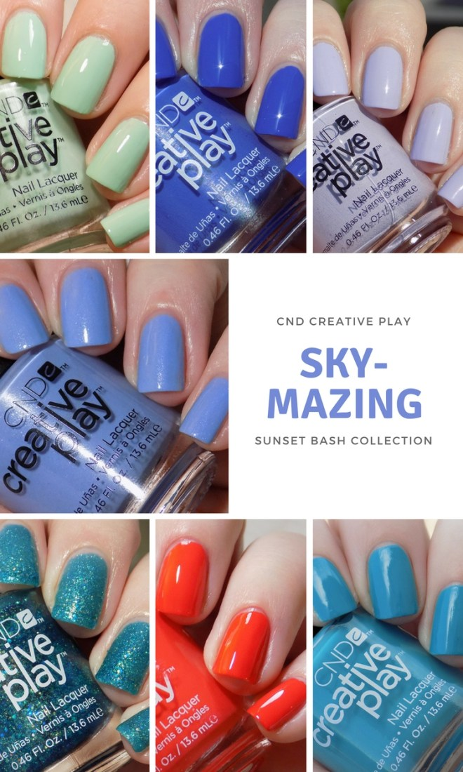CND Creative Play Swatches - Skymazing Swatches