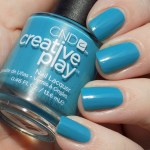 CND Creative Play Teal The Wee Hours Swatches & Review