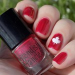 Canada Day Mani - Fiendish Fancies Sleep Eludes Me - Kayla Ray Vinyls Maple Leaf