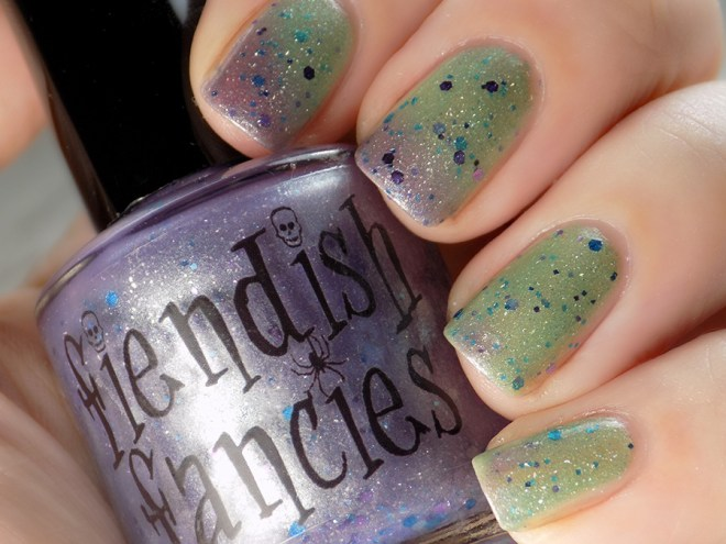 Fiendish Fancies 2nd Anniversary Polish - I Want My Cake Swatches and Review Closeup2