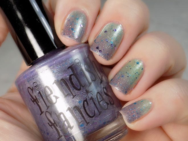 Fiendish Fancies 2nd Anniversary Polish - I Want My Cake Swatches and Review