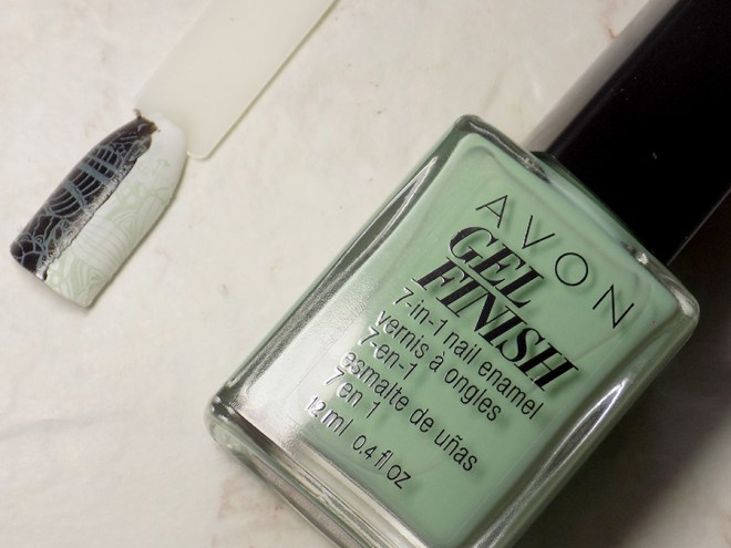 Avon Gel Finish Clover Nail Polish - Does It Stamp