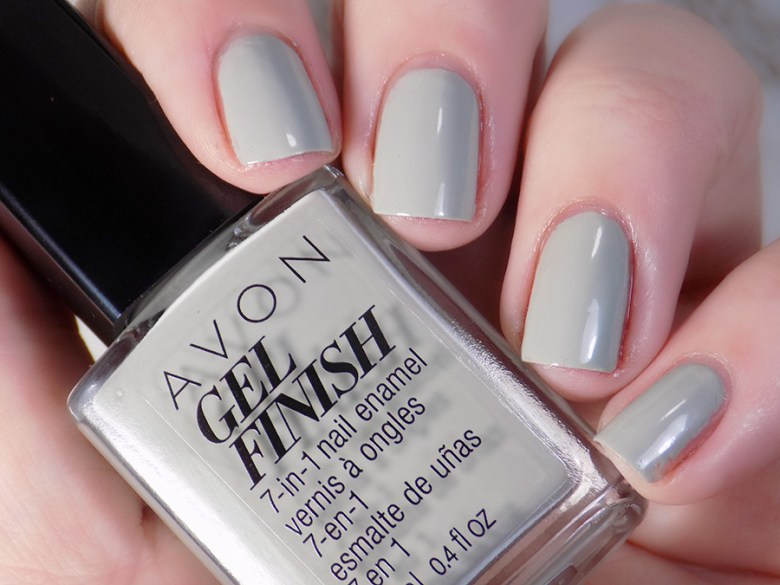 Avon Gel Finish Head In Clouds Nail Polish Swatch in Artificial Lighting