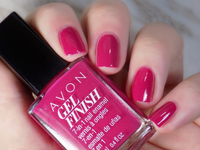 Avon Gel Finish Rose Noir Nail Polish Swatch - Artificial Light