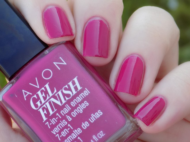 Avon Gel Finish Rose Noir Nail Polish Swatch - Natural Shade