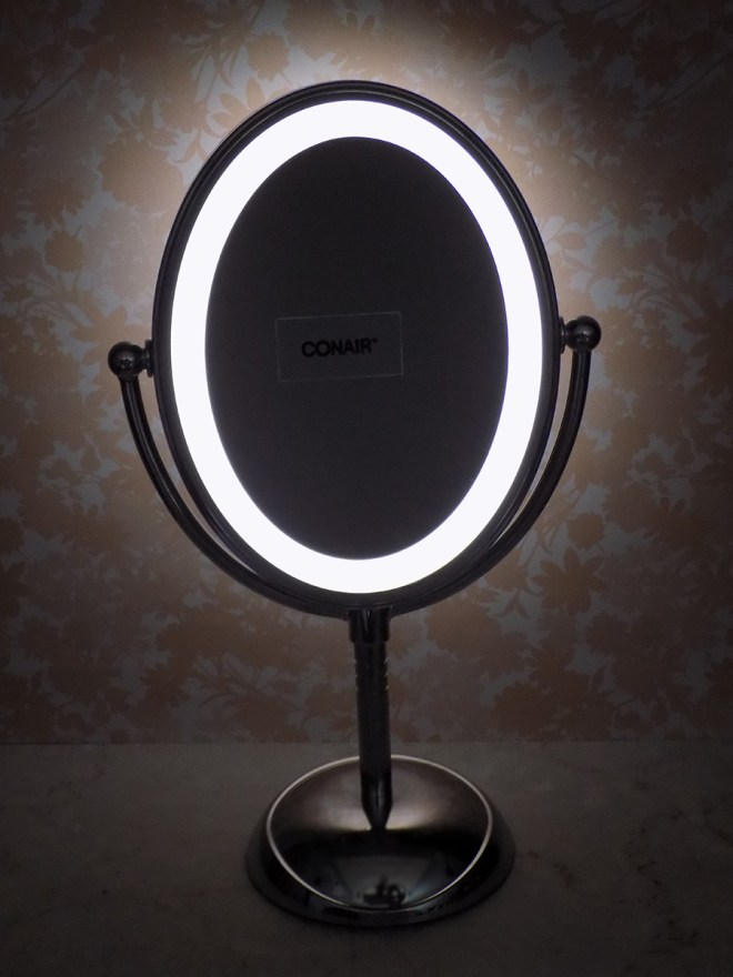 Conair Lighted Mirror - in dark