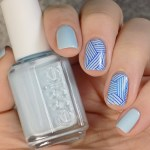 Essie Blue La La - Summer 2017 - Stamped with MdU Navy and BP-L060 - Swatch