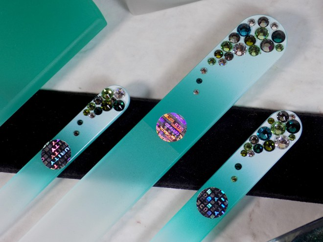 Mont Bleu Crystal Glass Nail Files and Foot File Review - Crystals on Nail Files