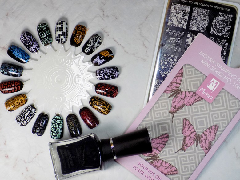 Moyra Sounds of Your World 108 Stamping Plate Swatches - Full Plate Swatches - Beautometry