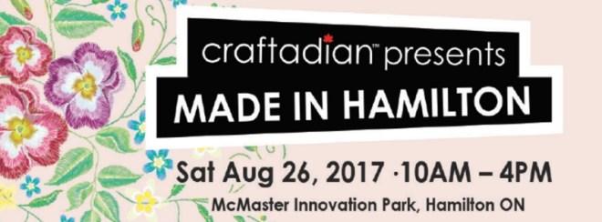Craftadian Made In Hamilton Fall 2017 Show