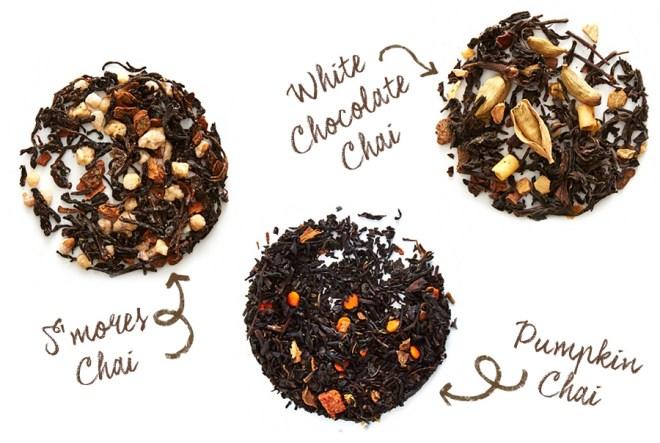 DavidsTea Fall 2017 Chai Collection Teas - White Chocolate Chai - Smores Chai - Pumpkin Chai