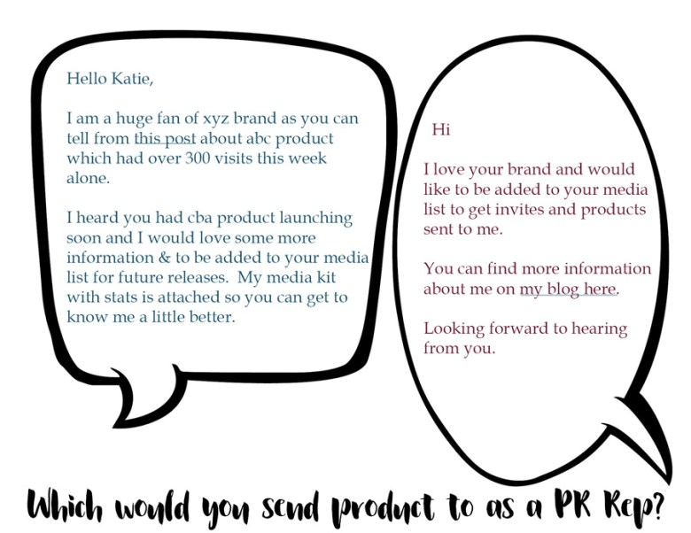 PR tips - contacting pr better blogging