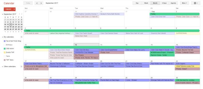 Plan your blog posts and tasks with a calendar