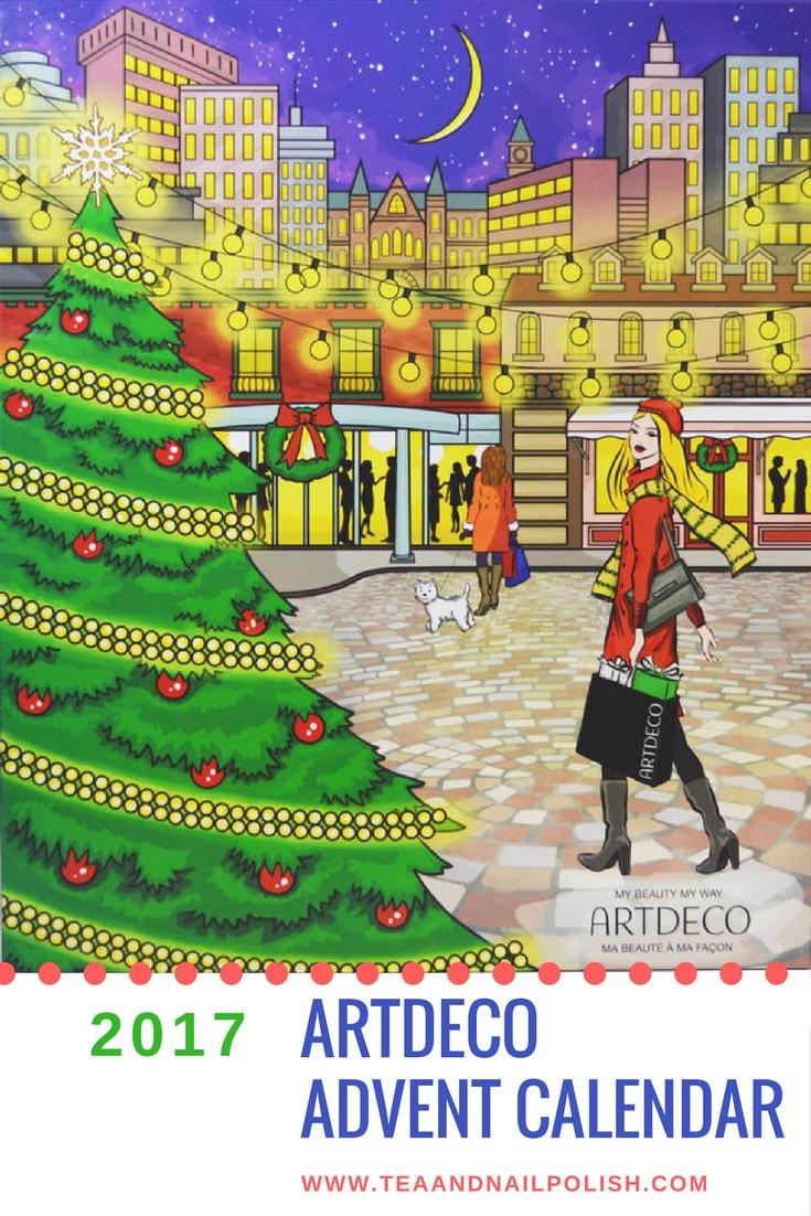 Art Deco Advent Calendar : Artdeco beauty advent calendar for canada tea