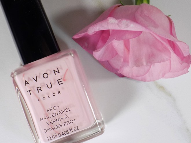 Avon A Box Fall 2017 - The Power of Pink Box Review - Avon True Color Polish in Pastel Pink