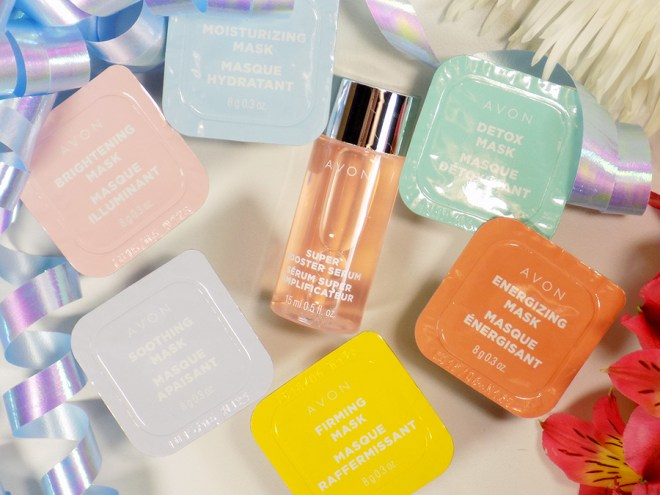 Avon Beauty Boost Facemask Gift Set - Mask Types with Serum - Whats in the box