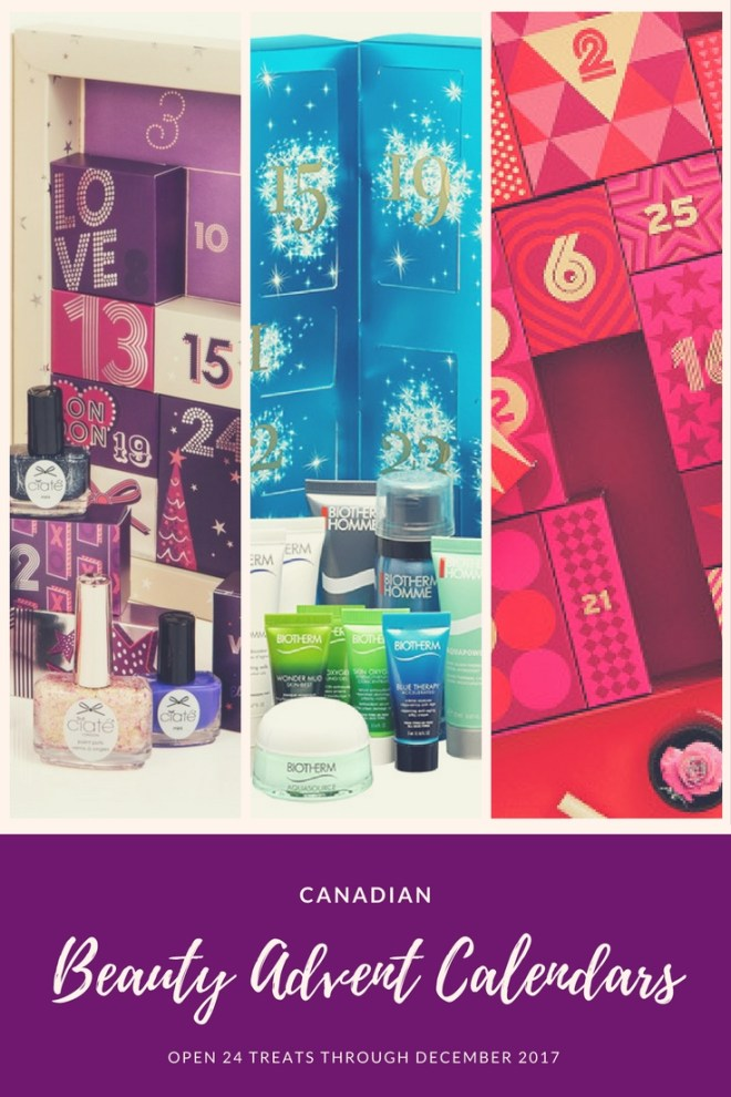 Canadian Beauty Advent Calendars for 2017 - The Body Shop - Biotherm - ArtDeco - LUSH and more