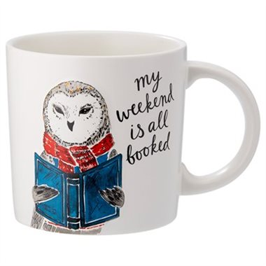Chapters-Indigo Tea Lovers Gift Guide - Owl My Weekend Is All Booked Mug