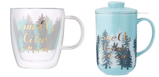 Chapters-Indigo Tea Lovers Gift Guide - Smells Like Snow Glass Double Wall Mug and Perfect Mug