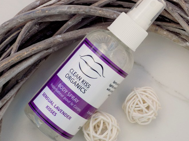 Clean Kiss Organics Review - Lavender Body Spray