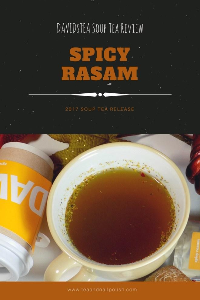 DAVIDsTEA Soup Tea Review - Spicy Rasam Soup Tea