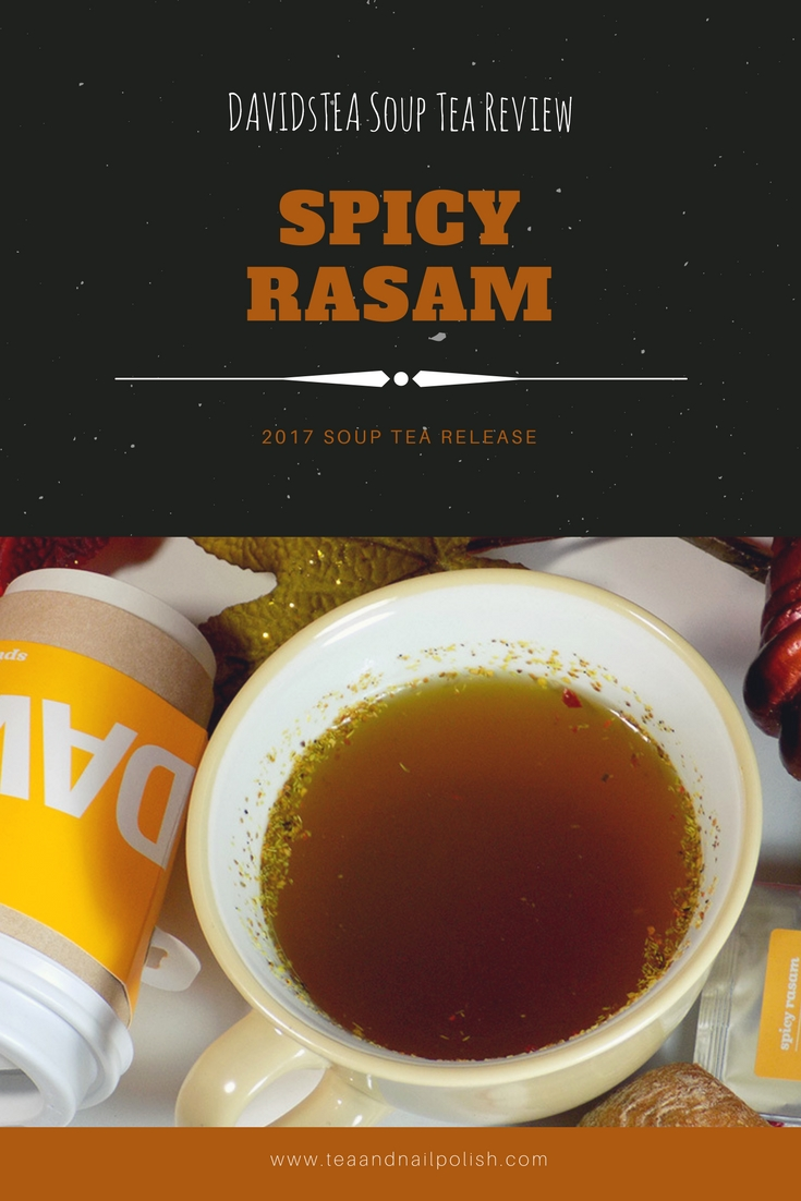 DAVIDsTEA Soup Tea Review - Spicy Rasam Soup Tea
