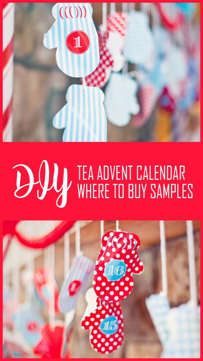 DIY Tea Advent Calendar Canada - Where To Buy Tea Samples Canada