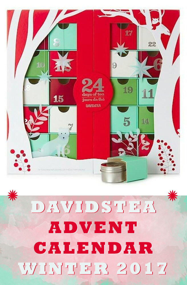 DavidsTea advent Calendar 2017 - Davidstea 24 Days of Tea 2017