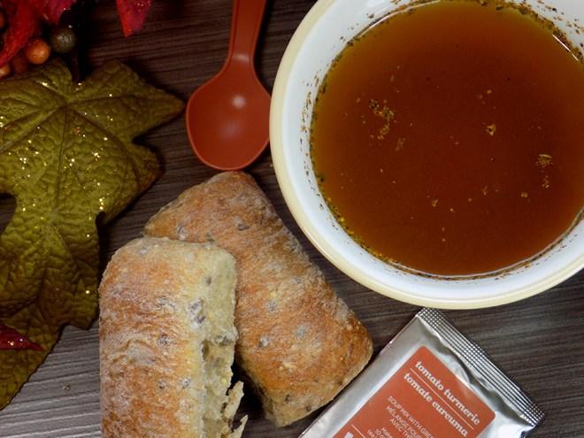 Davidstea Tomato Turmeric Soup Tea Review - Brewed