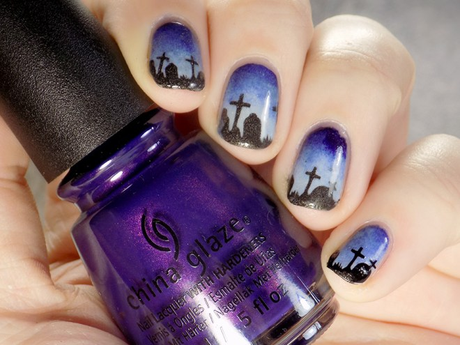 Whats Up Graveyard Nail Stencils Nail Art - Nail Polish Canada - 3 Ways To Apply Vinyls